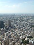 Views of Tokyo from the observation deck Stock Photo
