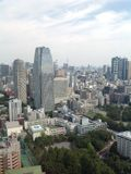 Views of Tokyo from the observation deck Royalty Free Stock Images