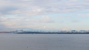 Views of Tokyo with Tokyo Bay Stock Photos