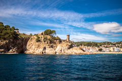 Views of Tossa de Mar. With sea Royalty Free Stock Images