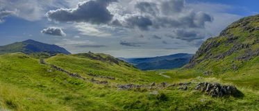 Free Views Towards Eskdale From The Summit Of Hardknott Pass, Lake District, UK Royalty Free Stock Image - 157322386