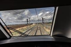 Window machine train stock photos