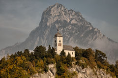 Views of Traunkirchen, Traunsee, in Salzkammergut, Upper Austria Royalty Free Stock Photography