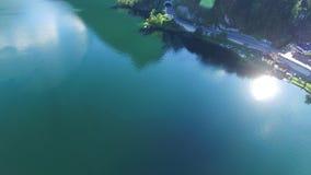 Views of Traunkirchen, Traunsee, in Salzkammergut, Upper Austria. Aerial Views of Traunkirchen, Traunsee, in Salzkammergut, Upper Austria stock video