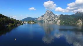 Views of Traunkirchen, Traunsee, in Salzkammergut, Upper Austria stock video