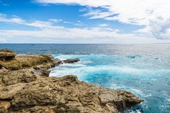 Views of the turquoise ocean Royalty Free Stock Photo