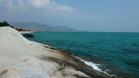 Views of the turquoise sea. Beautiful views of the turquoise sea stock video