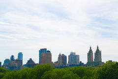 Views of the UWS from the MET. The rooftop terrace of the MET has probably the best views of Central Park Stock Photo