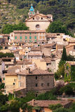The views of Valldemossa. The view over the medieval village of Valldemossa located on the island of Mallorca in Spain Royalty Free Stock Images