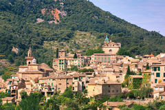 The views of Valldemossa. The view over the medieval village of Valldemossa located on the island of Mallorca in Spain Royalty Free Stock Photography