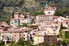 The views of Valldemossa. The view over the medieval village of Valldemossa located on the island of Mallorca in Spain Royalty Free Stock Photos