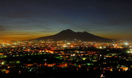 Views of Vesuvius. Naples views of vesuvius at night Royalty Free Stock Photos
