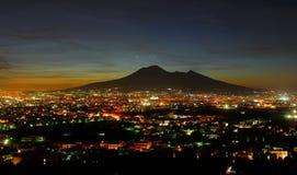 Views of Vesuvius. Naples views of vesuvius at night royalty free stock photos