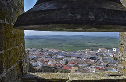 Views. View of a small town from the steeple of the church Stock Images