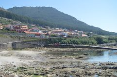 Views Of The Village Of Oya From The Surroundings Of The Monastery. Nature, Architecture, History, Travel. August 16, 2014. Oya,. Pontevedra, Galicia, Spain royalty free stock image
