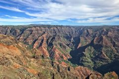 Views of the Waimea canyon on the island of Kauai royalty free stock images