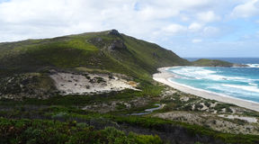 Views of the Walpole Inlet Western Australia  on a cloudy day. Views of the Southern Ocean at  Walpole Inlet Western Australia  on a cloudy day in autumn are Royalty Free Stock Photo
