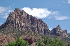The Watchman at Zion National Park. Views of the Watchman at Zion National Park in Utah stock image