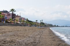 Views of the waterfront and beaches of Fethiye in the morning. Views of the waterfront and beaches of Fethiye in the morning, Turkey stock photography