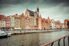 Views of the waterfront in Gdansk Stock Photos