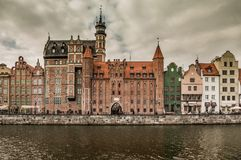 Views of the waterfront in Gdansk Stock Photo