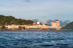 Views of the waterfront Jayapura stock photos