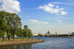 Views of the waters of the River Neva Stock Image
