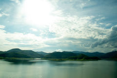 Viewscape Mae Kuang Udom Thara Dam in thailand stock images