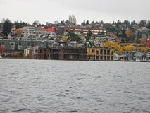 viewto the bay in seattle stock images
