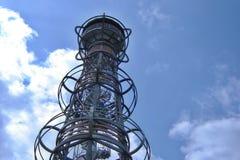 Viewtower Cibulka. Look at the top of viewtower Cibulka near the town Olovi stock images