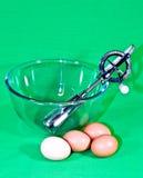 Vifta, bowla, ägg Royaltyfri Foto