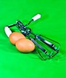 Vifta och ägg Royaltyfri Fotografi