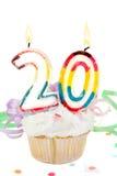 vigésimo cumpleaños Fotos de archivo libres de regalías
