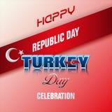 Vigésimo nono outubro, dia turco da república, celebração ilustração stock