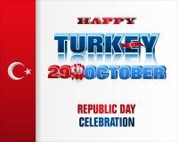 Vigésimo noveno de octubre, celebración del día de la república en Turquía ilustración del vector