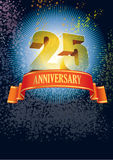 Vigésimo quinto aniversário Foto de Stock Royalty Free