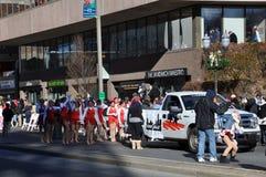 vigésimo Spectacular anual del desfile de la acción de gracias de UBS, en Stamford, Connecticut Imagenes de archivo