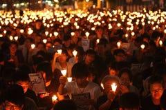Vigília de Tiananmen em Hong Kong Foto de Stock Royalty Free