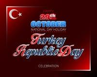 Vig?simo nono outubro, dia turco da rep?blica, celebra??o ilustração royalty free
