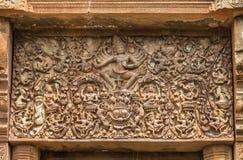 Viga do templo da rocha do castelo do sikhoraphum em Tailândia Fotografia de Stock