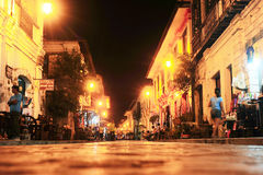 Vigan city. Vigan, Philippines - March 24, 2012: The City of Vigan at night. It is a World Heritage Site in that it is one of the few Hispanic towns left in the Royalty Free Stock Photos