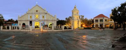 Vigan Colonial Cathedral in Vigan, Philippines Royalty Free Stock Image