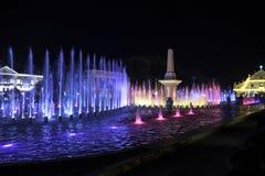 Vigan, elektryczny musical iluminujący fontanny przedstawienie Obrazy Royalty Free
