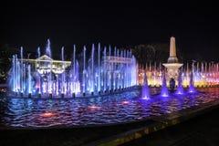 Vigan, elektryczny musical iluminujący fontanny przedstawienie Obraz Stock