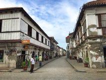 vigan historisk town Arkivbild