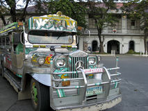 Vigan old town jeepney luzon philippines Royalty Free Stock Photos