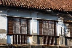 Vigan oude die stad door het Spaans tijdens koloniale periode, Luzon, Filippijnen wordt gebouwd stock fotografie