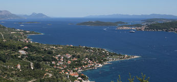 Viganj and island Korcula, Croatia Royalty Free Stock Photo
