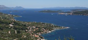 Viganj and island Korcula, Croatia Royalty Free Stock Photo