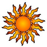 Vigas abstractas de Sun que brillan intensamente libre illustration